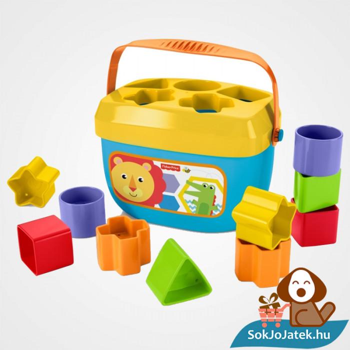 10 darabos Fisher-Price formaevő doboz (Mattel) játék a formákkal