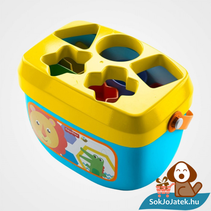 10 darabos Fisher-Price formaevő doboz (Mattel) 6 hónapos kortól