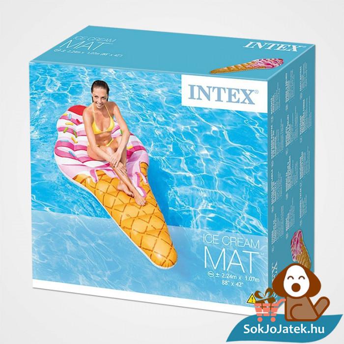 Intex 58762: Tölcséres felfújható fagyi alakú strand matrac doboza