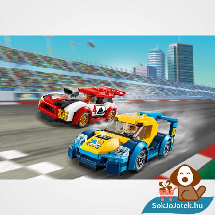 Lego City 60256 Versenyautók játék közben