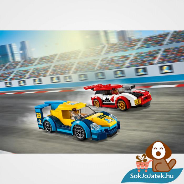 Lego City 60256 Versenyautók verseny közben