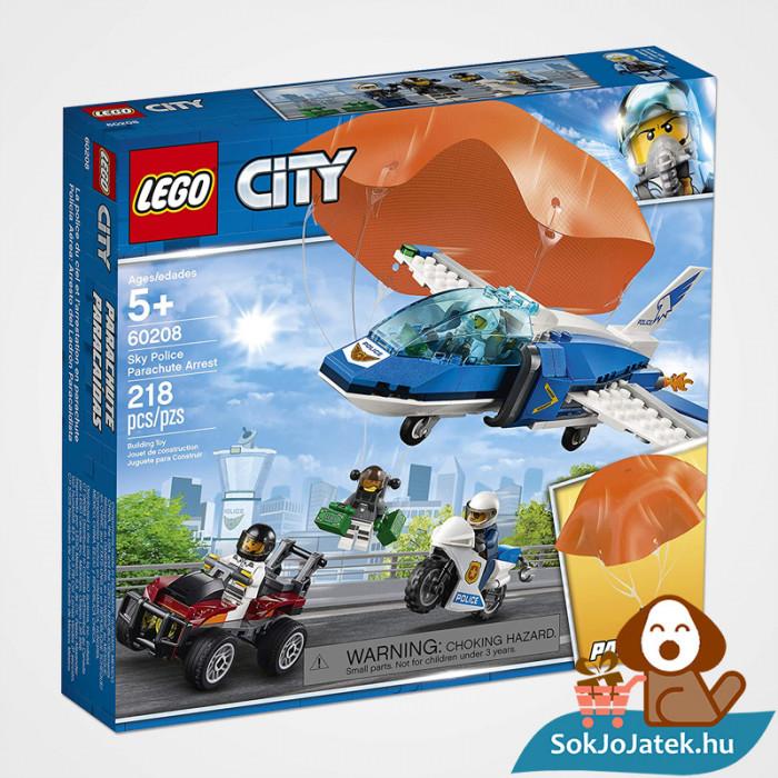 Lego City 60208 - Rendőrségi ejtőernyős letartóztatás doboz
