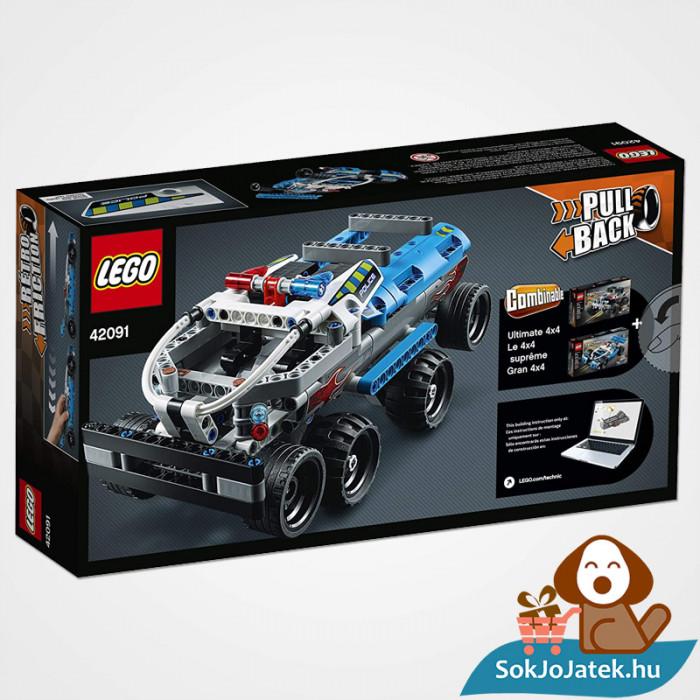 Lego Technic 42091 - Lendkerekes rendőrségi üldözés doboza hátulról