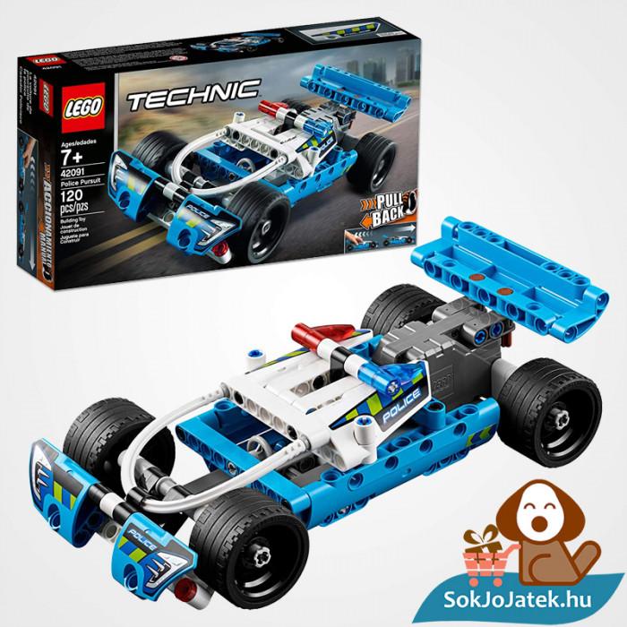 Lego Technic 42091 - Lendkerekes rendőrségi üldözés összeépítve és doboza