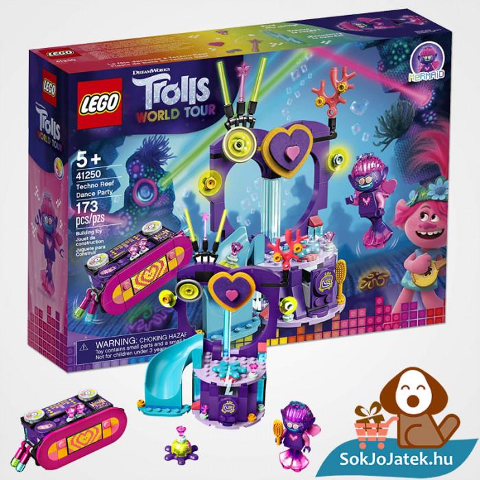 Lego 41250 - Trolls: Táncparti a techno szirten építőjáték doboza és legója