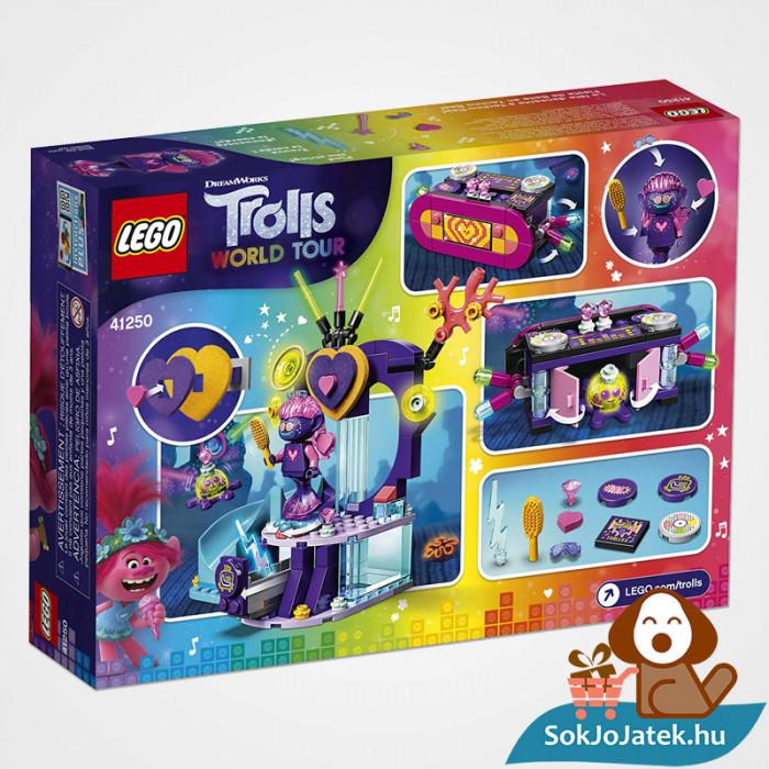 Lego 41250 - Trolls: Táncparti a techno szirten doboza hátulról