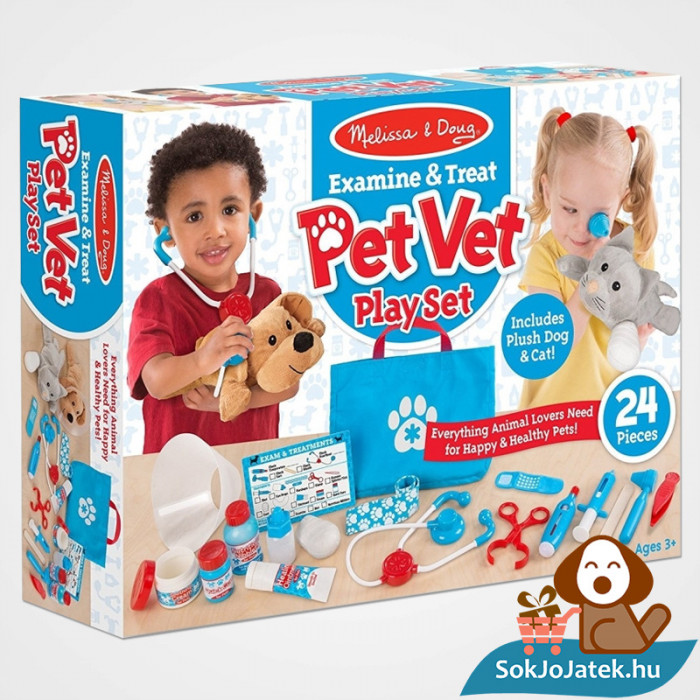 Állatorvosi Szerepjáték Szett doboza - Melissa & Doug