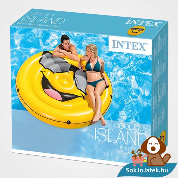 Intex 57254: Mosolygós felfújható strand matrac doboza