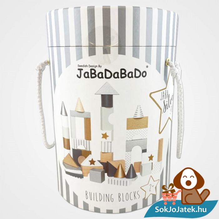 47 darabos Jabadabado arany és ezüst fa építőjáték doboza