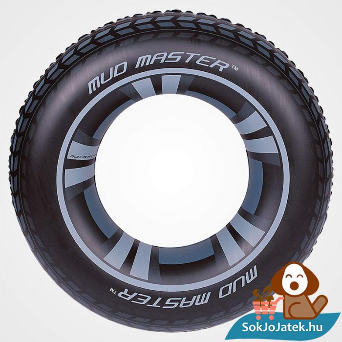 91 centiméteres Bestway 36016 felfújható fekete autókerék mintás úszógumi