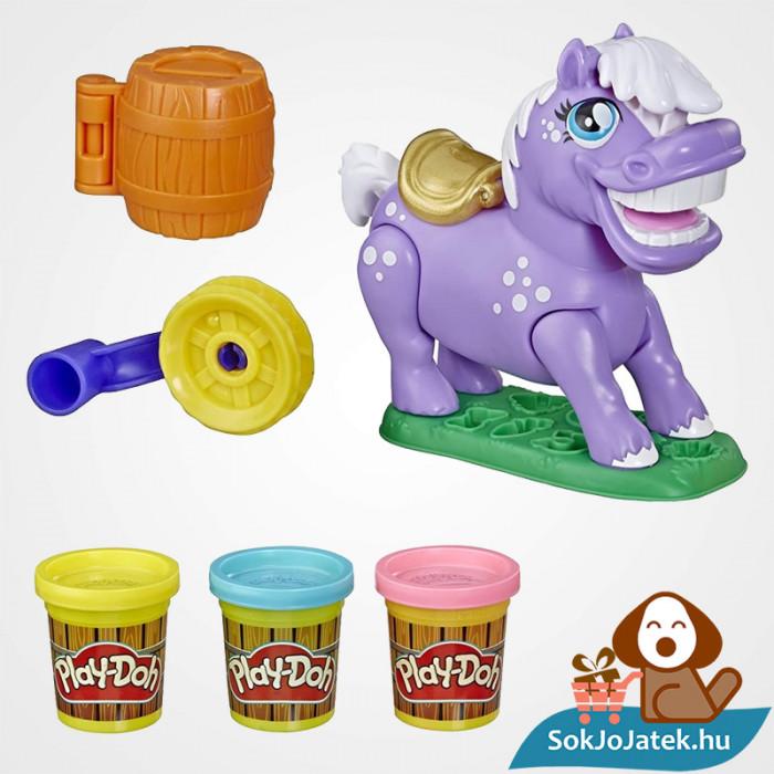 Hasbro, Play-Doh Play-Doh Animal Crew - Naybelle, a rodeó póni gyurmaszett kibontva