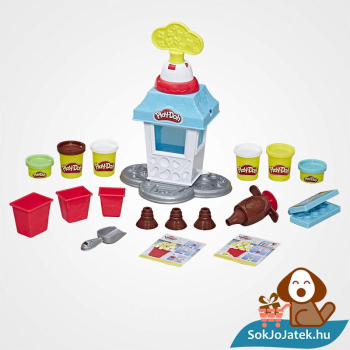 Hasbro Play-Doh gyurma popcorn készítő party szett kicsomagolva
