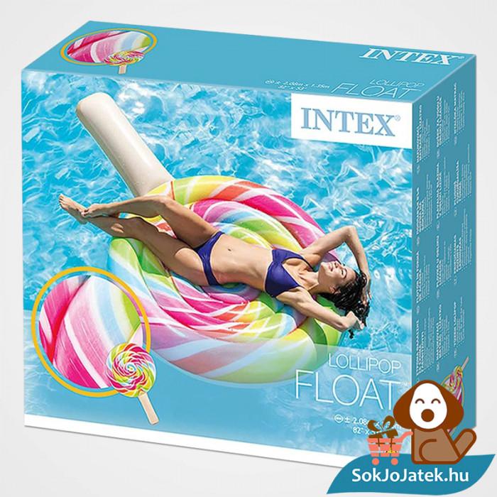 Intex 58753: Nyalóka formájú felfújható strand matrac doboza