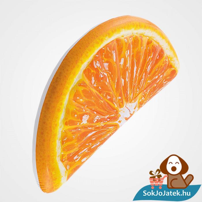 Intex 58763: Narancs szelet alakú felfújható gumi matrac fejjel lefelé