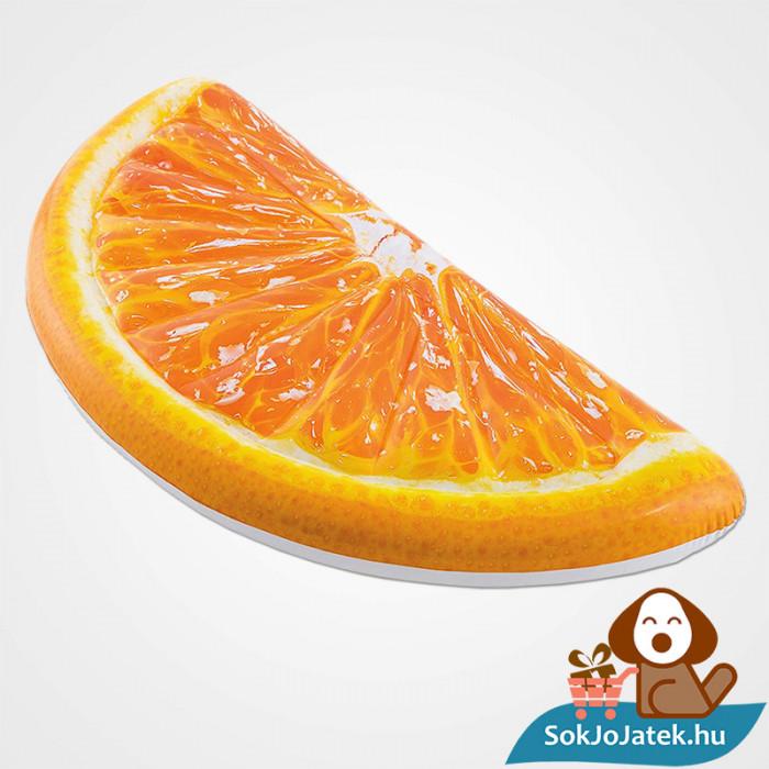Intex 58763: Narancs szelet alakú felfújható gumimatrac felfújva