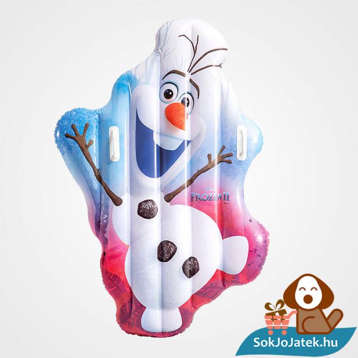 Olaf alakú felfújható strand matrac a Jégvarázs Meséből felfújva