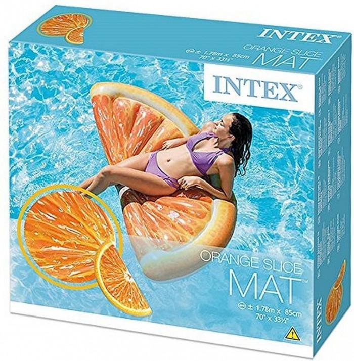 Intex 58763: Narancs szelet alakú felfújható gumi matrac doboza
