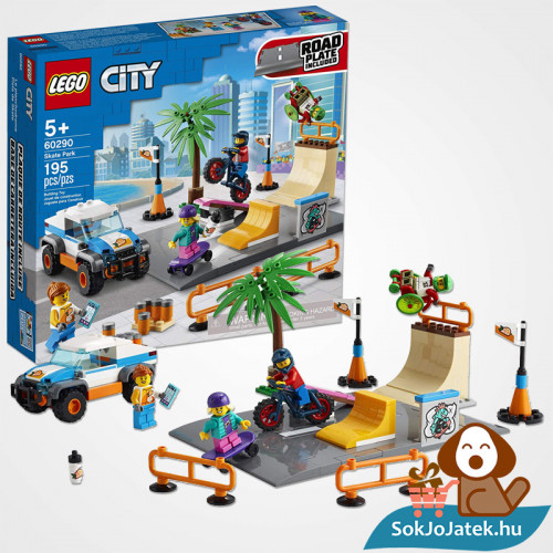 195 darabos Lego City - Gördeszkapálya doboza és összeépített Legó