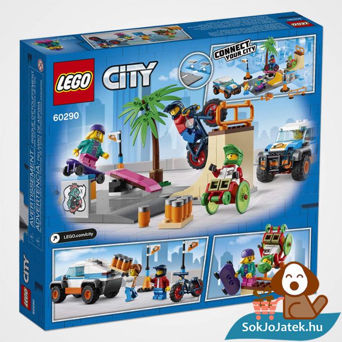 195 darabos Lego City - Gördeszkapálya doboza hátulról