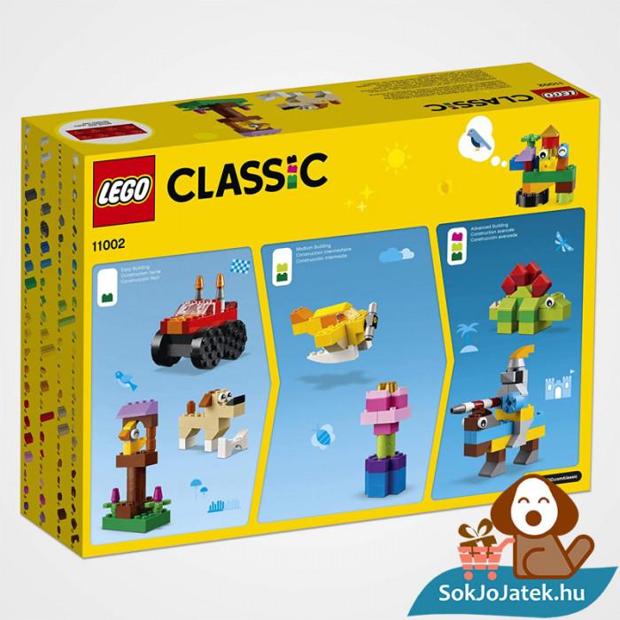 300 darabos Lego Classic (11002) alap kocka készlet doboza hátulról