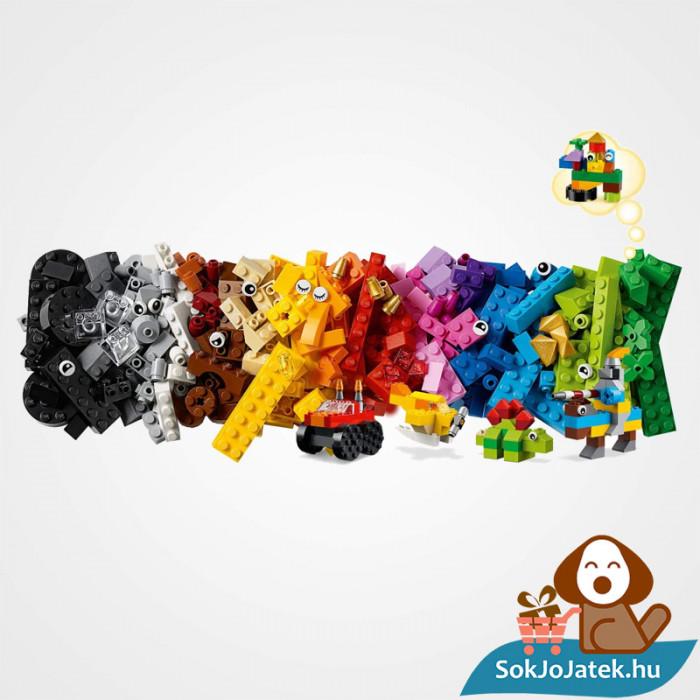 300 darabos Lego Classic (11002) alap kocka készlet Lego darabkái