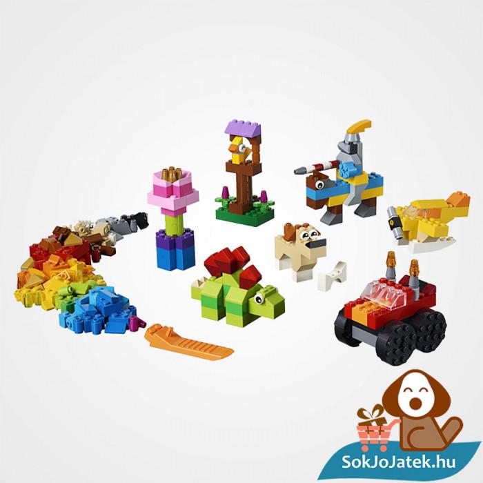 300 darabos Lego Classic (11002) alap kocka készlet összeépítve