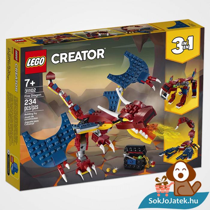 Lego Creator 31102 3in1 Tűzsárkány doboza előről