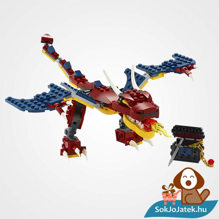 Lego Creator 31102 3in1 Tűzsárkány összeépítve
