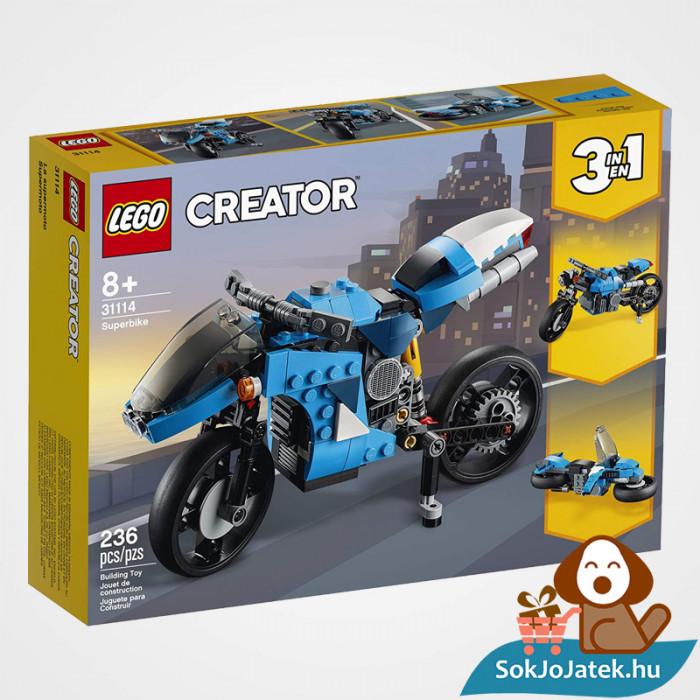 Lego Creators 31114 Szupermotor doboza előről