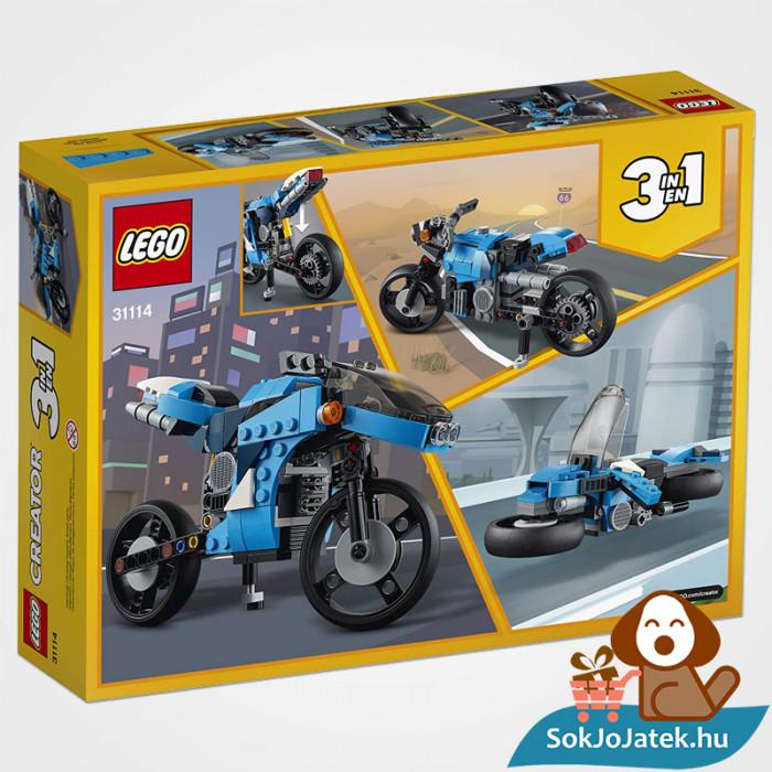 Lego Creators 31114 Szupermotor doboza hátulról