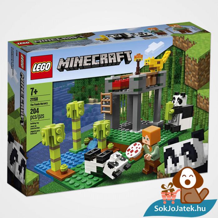 204 darabos Lego Minecraft - A Pandabölcsöde doboza előről