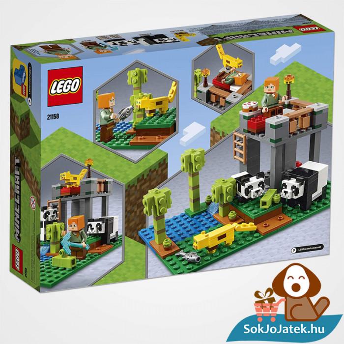 204 darabos Lego Minecraft - A Pandabölcsöde doboza hátulról