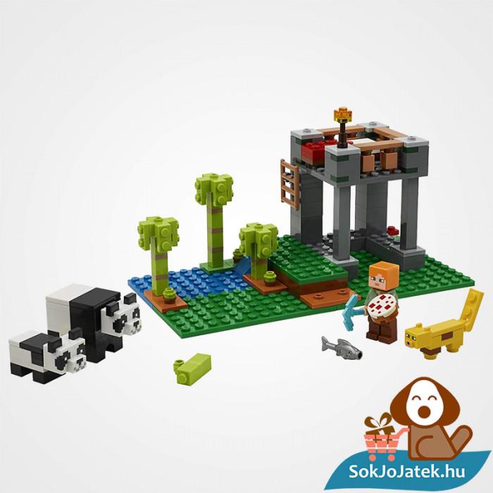 204 darabos Lego Minecraft - A Pandabölcsöde összeépítve