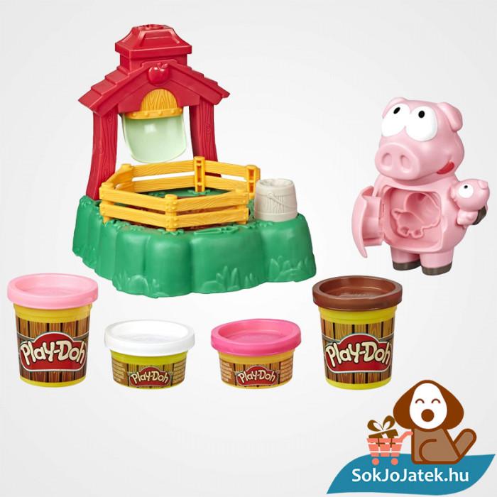 Play-Doh Animal Crew: Malac család - színes malacos gyurma szett kibontva