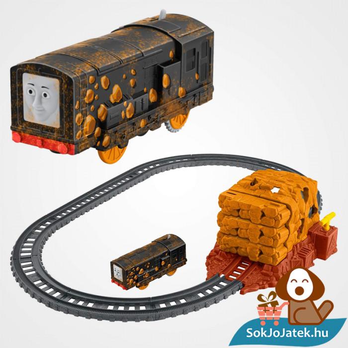 Thomas Trackmaster bányaomlás vonat pálya szett összeépítve. Fisher-Price 1538694