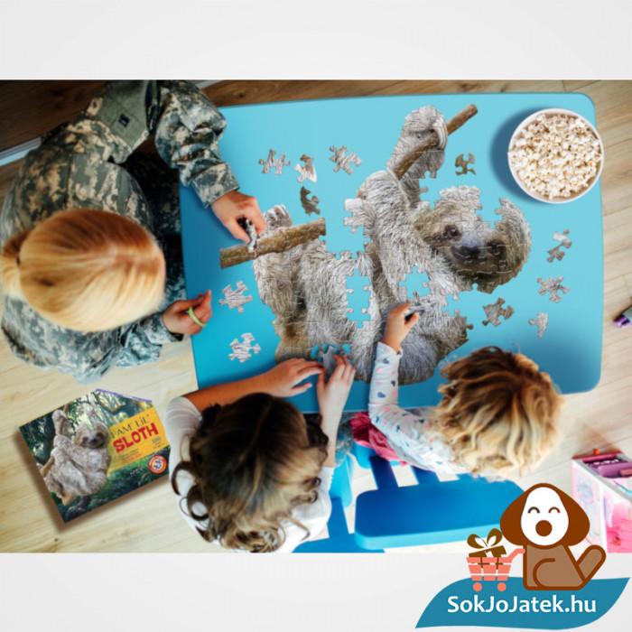 Wow poszter méretű forma puzzle - lajhár, 100 db, játék barátokkal