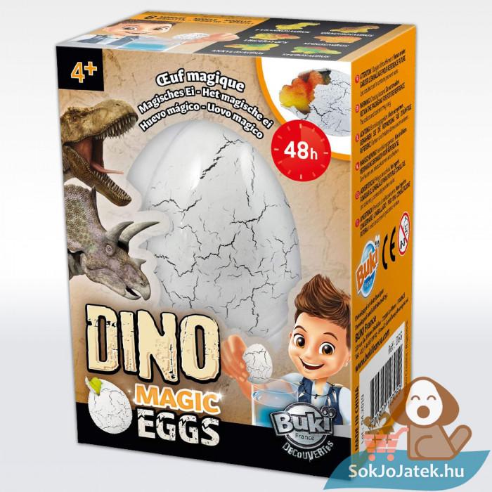 Buki márkájú dínó varázs tojás doboza