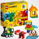 123 darabos Lego Classic kockák és ötletek doboza és összeépített elemei
