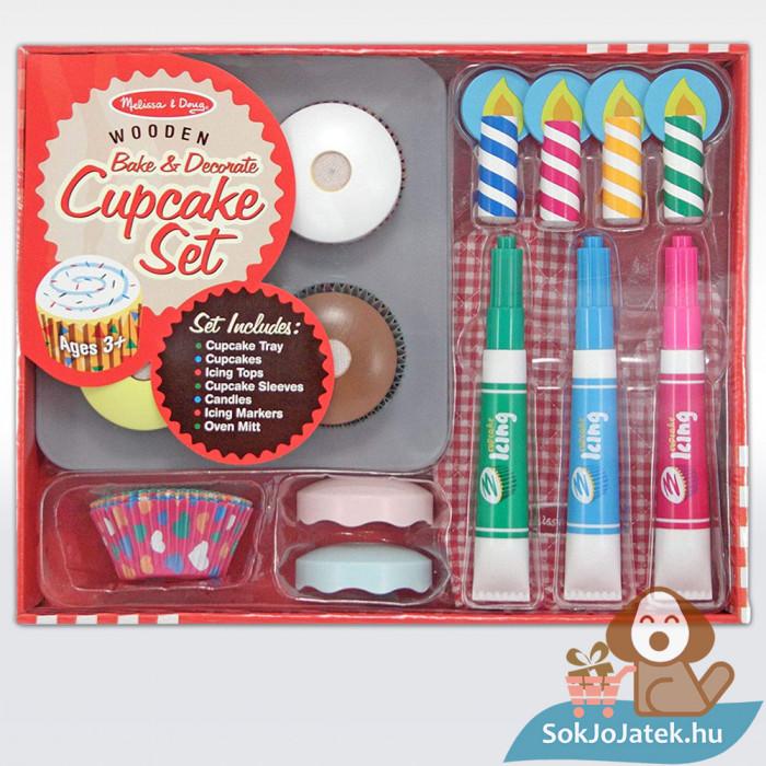 Melissa & Doug Sütés-főzés, Cupcake játék szett doboza
