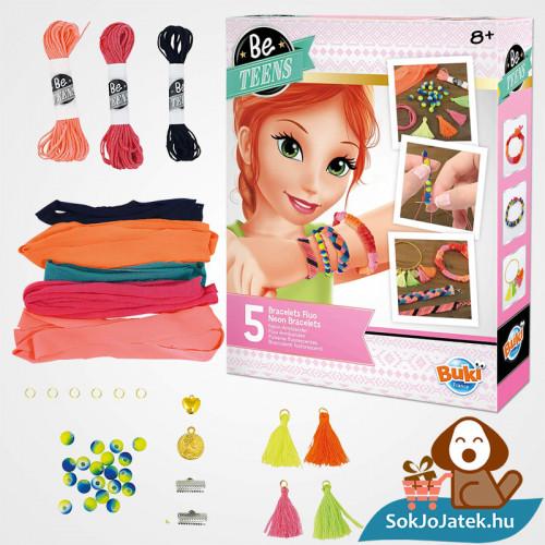 Neon karkötő készítő szett lányoknak - BUKI France