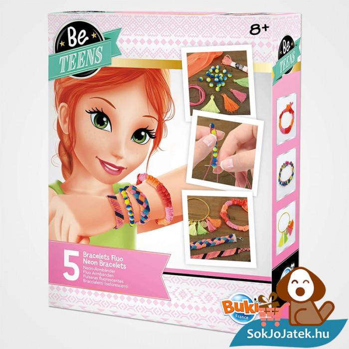 Neon karkötő készítő szett doboza lányoknak - BUKI France