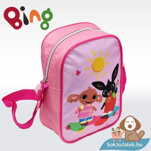 Bing nyuszi és Sula mintás rózsaszín válltáska lányoknak balról