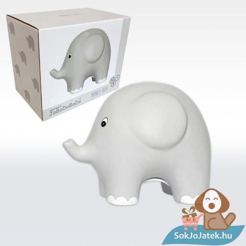 Szürke elefántos kerámia persely - Jabadabado